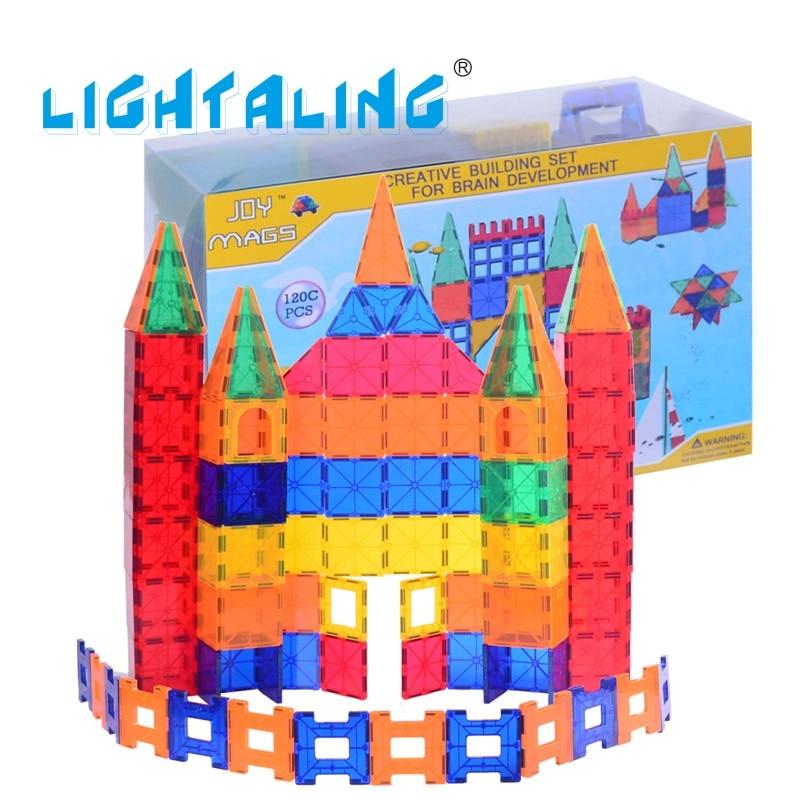 Lightaling Magnetic 120 pcs Building Tiles Designer Blocks Brick DIY & Model Kids Baby Toy Gifts For Children 48pcs good quality soft eva building blocks toy for baby