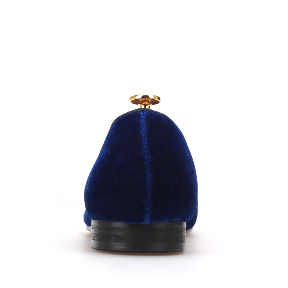 A Con Terciopelo La Masculino Más Zapatos Azul Marina Hombres Fiesta Del Vestido Bowtie Azul Holgazanes Moda Y El Tamaño Boda De Mano Hechos caqui Plana w1CqIYdC