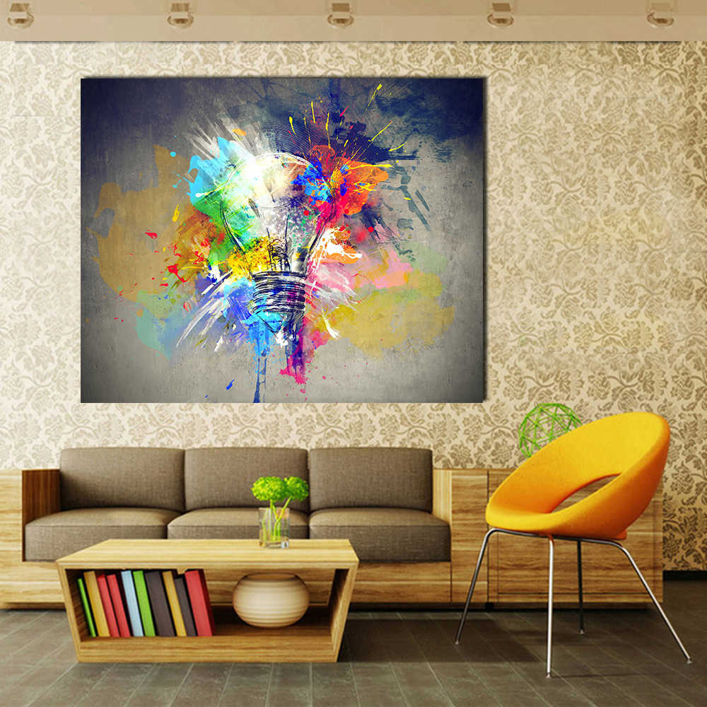 QKART Wall Art Pictures Canvas Light Colorful Painting Large Abstract Oil Painting for Living Room no Framed