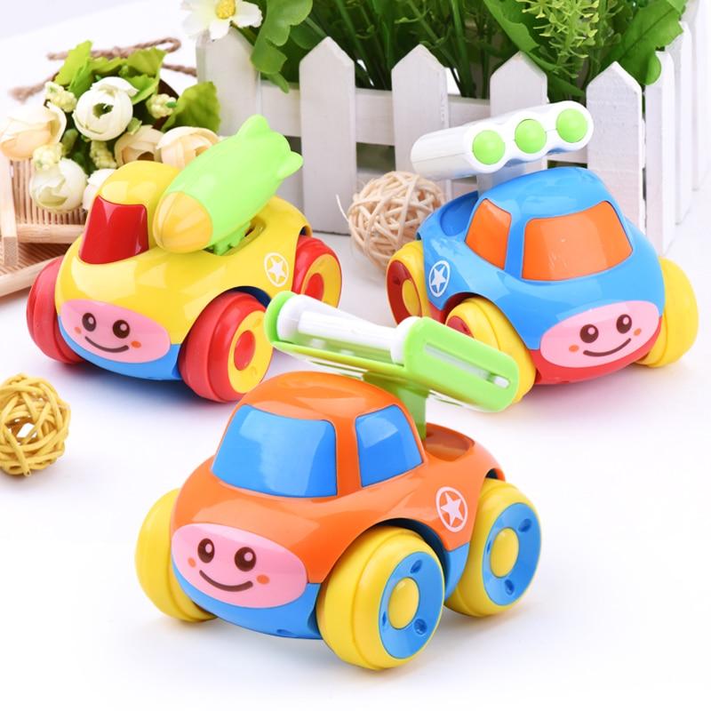 1PC baby spädbarn leksak bil pojkar militär tecknad pedagogiska leksaker för barn 0-12 månader