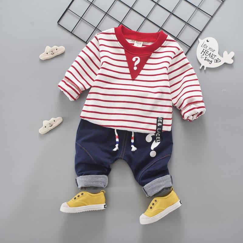 New Spring Boys Suits Cotton Striped Kids Clothes for Boys Long Sleeve Shirts Pants Todd ...