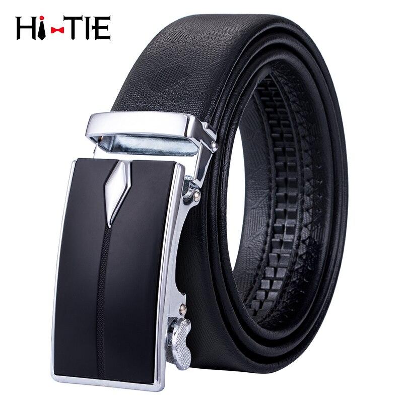 5a9e5338f7b11 Cheap Cinturones de cuero de estilo de negocios Hi Tie para hombres hebilla  automática para hombre