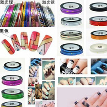 hot sale 1pc nail line painted wire nail decoration solid color Nail stickers nail art tool
