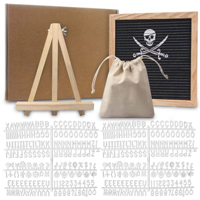 Felt Letter Board 10x10 Inch Solid Oak Wood Material With 340 White Letters Numbers Bag And Wood Easel  Felt Letter Board 10x10 Inch Solid Oak Wood Material With 340 White Letters Numbers Bag And Wood Easel