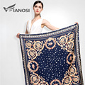 [VIANOSI]  Big Size 100x100cm Silk Square Scarf Women Fashion Bandana High Quality Satin Scarves Brand Shawl Hijab VA038