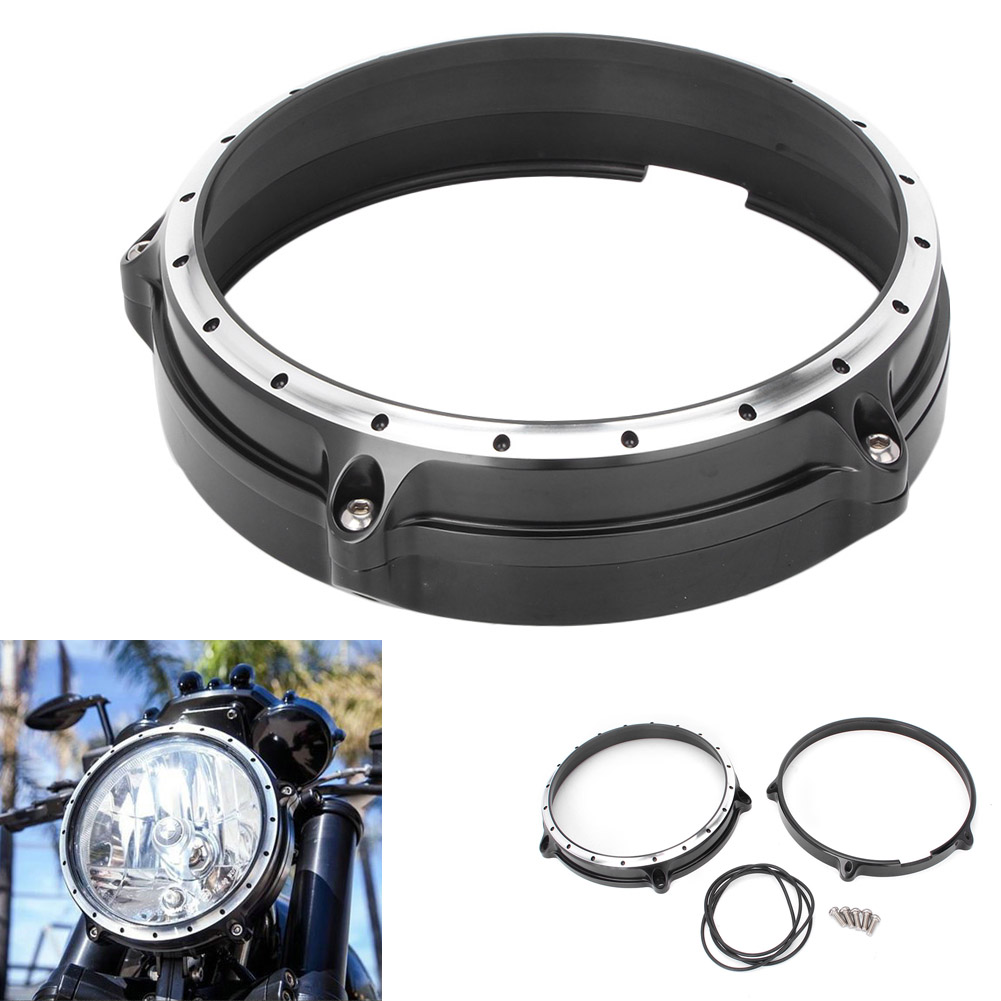 Front Headlight Headlamp Head Light Lamp Bezel Trim Ring For BMW R Nine T 7 2014 2015 2016 2017 Motocycle Parts CNC Aluminum scooter abs electroplate front headlight headlamp head light lamp small mask cap cover shield large for yamaha bws x 125 plating