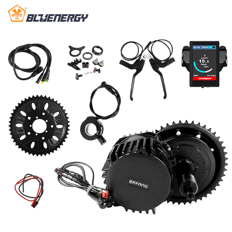 8fun Bafang BBS03 BBSHD 48V 1000W 100mm 46T Bicicleta Eletrica Kit Mid Drive Motor For Ebike With C961 C965 850C DPC18 Display free shipping electric bicycle 48v 1000w 8fun bafang bbs03 bbshd mid drive motor kit 68mm 100mm 120mm with c965 lcd display
