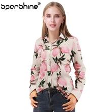 SPARSHINE New Long Sleeve Vintage Blouse Lemon Female Shirt Blusas Feminino Ladies Blouses Women Tops 2017 Fashion Plus Size 5XL