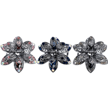 2018 New Hot Vintage Flower Crystal Hair Claws Clip Rhinestone Hairpin Hair Jewelry Charm Hair Accessories For Women Small Grab