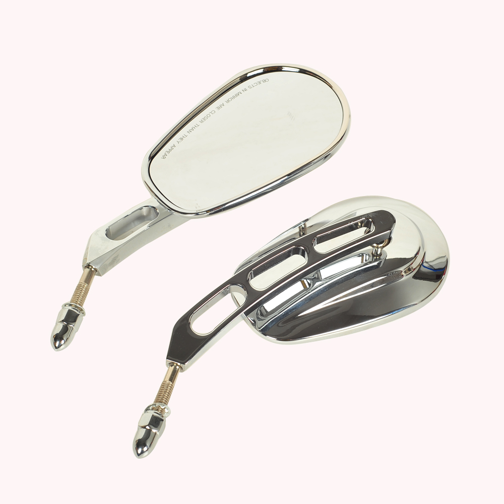 Chrome Motorcycle Mirror Moto Rearview Mirrors Hollow styling case for Harley Touring Road King Glide VRSCAW V ROD 883 1200-in Side Mirrors & Accessories from Automobiles & Motorcycles    1