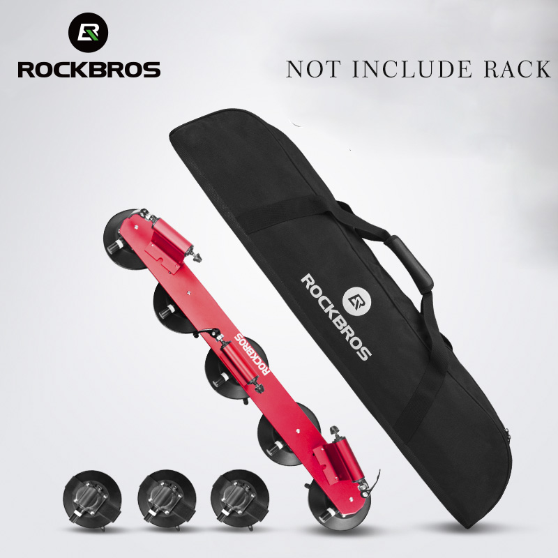 ROCKBROS Storage Bag for Bicycle Rack Suction Roof-Top 45L Large-Capacity Cycling Waterproof Bag PVC Portable Black Bike Package