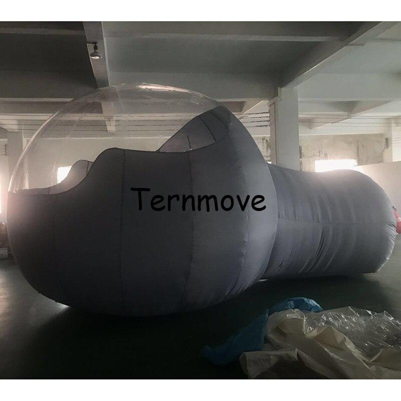 Bolha inflável barraca com túnel PVC cinza Bolha Inflável Barraca de Camping, Quente Grandes tendas publicidade metade clara