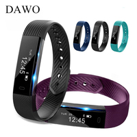 DAWO Smart Fitness Bracelet Watch 115 Fitness Tracker Sleep Activity Tracker Alarm Clock Smart Wristband PK