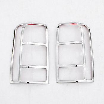 1 pair ABS Nuova Auto Esterno Lucido ABS Posteriore Fanale Coperchio Della lampada Trim Cornice Decorazione fit for 2011-2015 Patriota Auto Styling