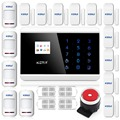 Touch Alarm Panel  LCD Display Wireless GSM PSTN Home Security Burglar Smart Magnetic  APP Alarm System   Touch Screen Panel