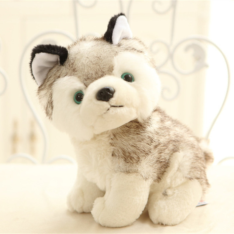 Kawaii Puppy Stuffed Toys 20cm Cute Simulation Husky Dog