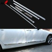 Аксессуары Новое! ABS Хром Боковая дверь тела протектор молдинг крышка Накладка для VOLVO S90 стайлинга автомобилей