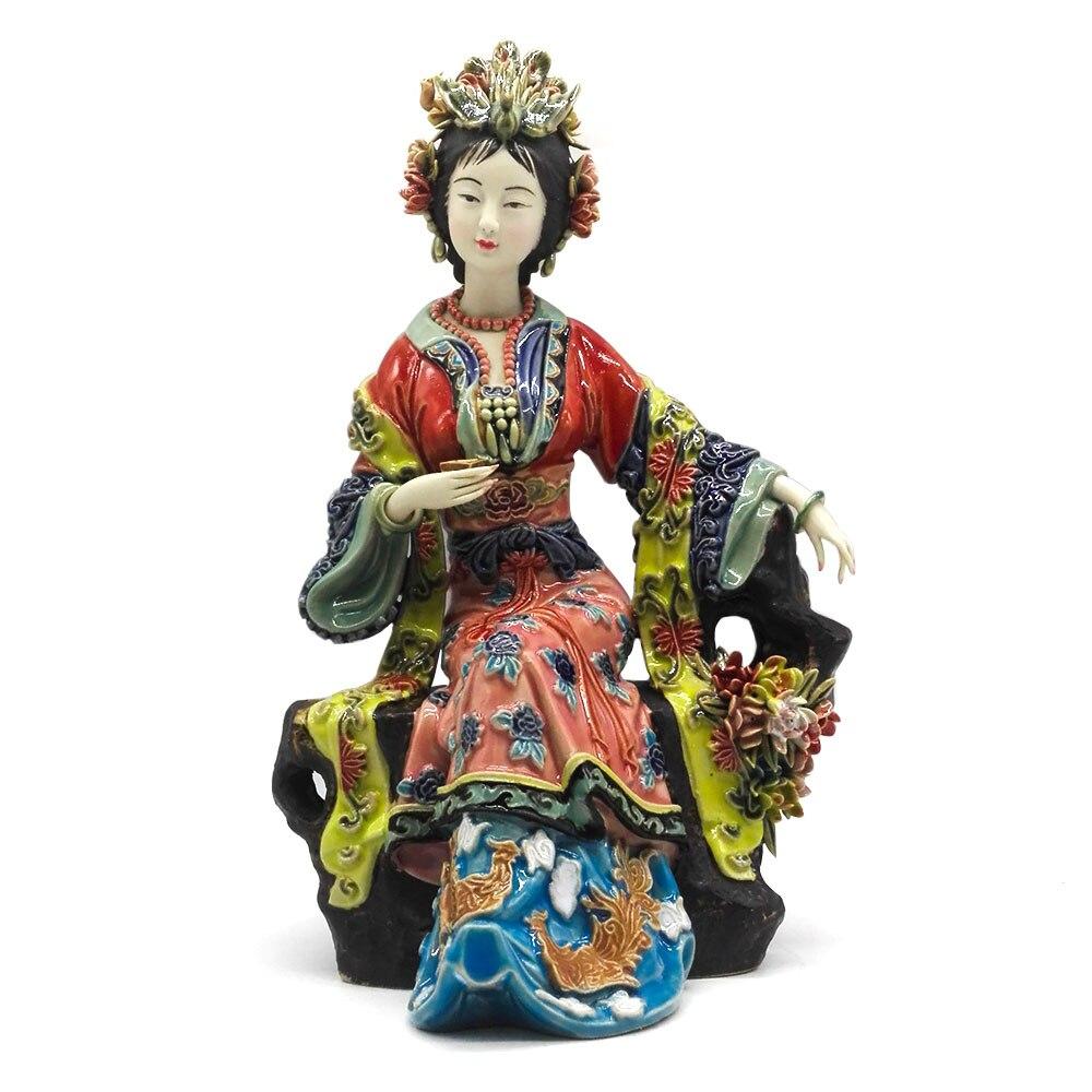 Китайские керамические куклы Изобразительное искусство женская статуя скульптура художественные коллекции ангелы фарфоровые коллекцион