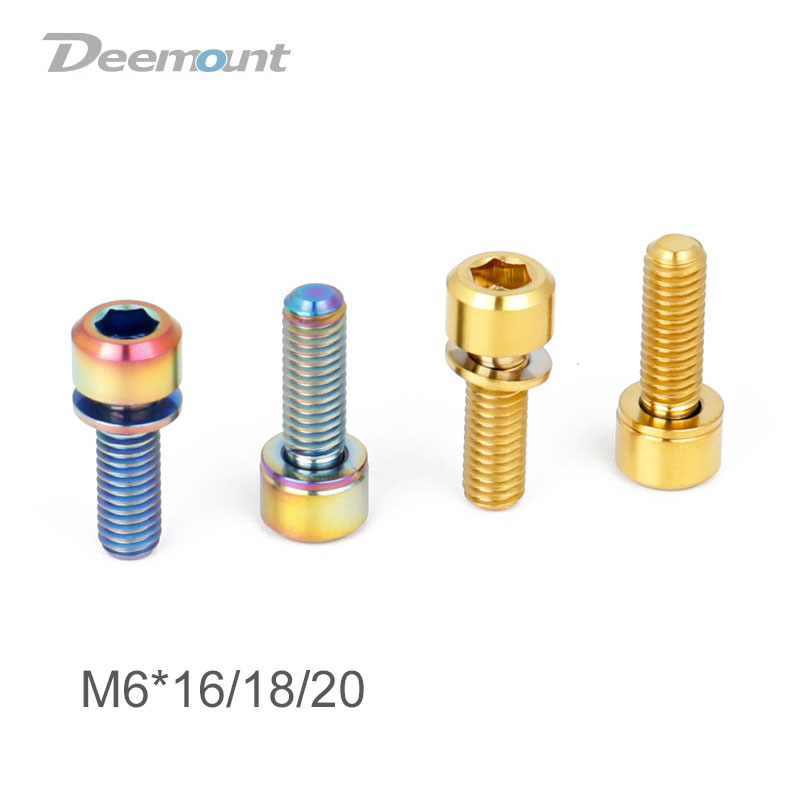 M5 M6 *14//16//18//20mm 10pcs Titanium Socket Cap Head Screws Steam Brake Bolts