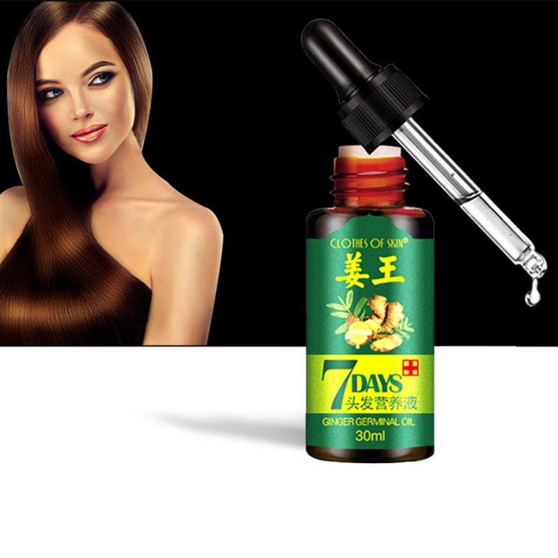 7 Days Ginger Essence Hair Essential Oils Hairdressing Hairs Mask Essential Oil Dry Damaged Nutrition Hair Care Products 6