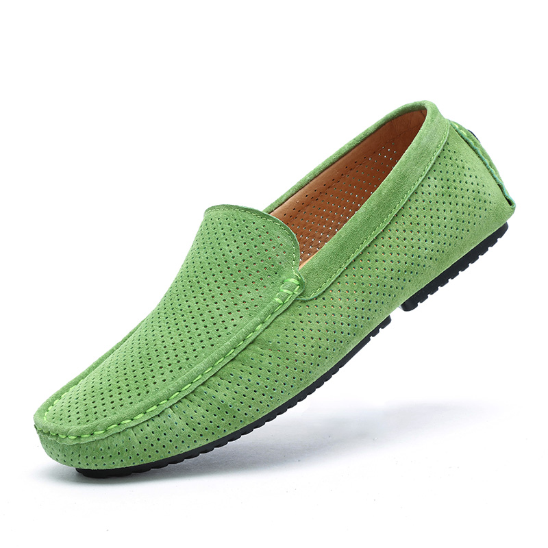 2017 Summer Loafers Men Shoes Casual Genuine Leather Flats Shoes Soft Male Moccasins Breathable Slip on Driving Boat Shoes handmade genuine leather men s flats casual haap sun brand men loafers comfortable soft driving shoes slip on leather moccasins