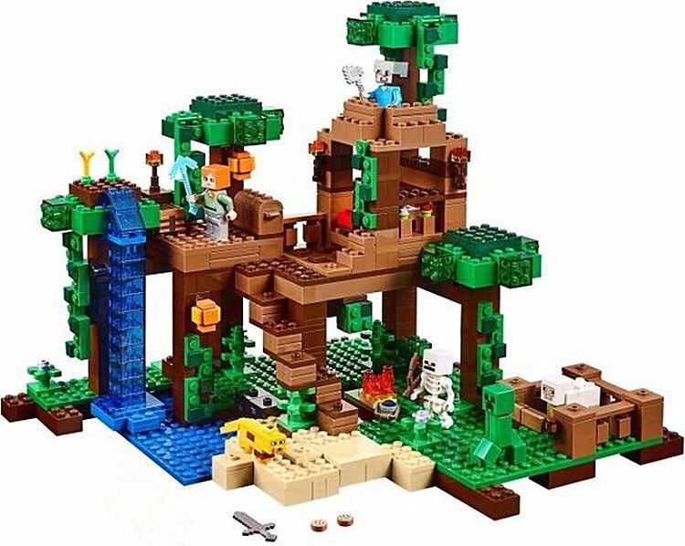 LEPIN 18003 my world series The Jungle Tree House model Building Blocks set compatible original 21125 mini Toys for children osborne mary pope magic tree house 5 night of the ninjas