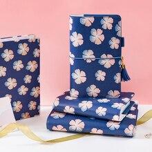 כיסוי עור מחברת ספירלת Lovedoki להיות יפים כמו פרחי הקיץ קוריאני כתיבה מחברת רטרו A5 יומן מתכנן שבועי