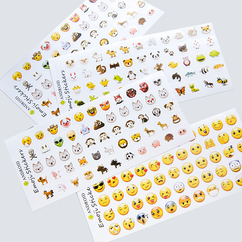 novelty mini cute emoji emotion sticker hot sale popular classic smile face stickers for handbook children funny gifts 12 sheets new cute head portrait sticker smiling face interesting smile face stickers children kids toy for phone notebook message twitter