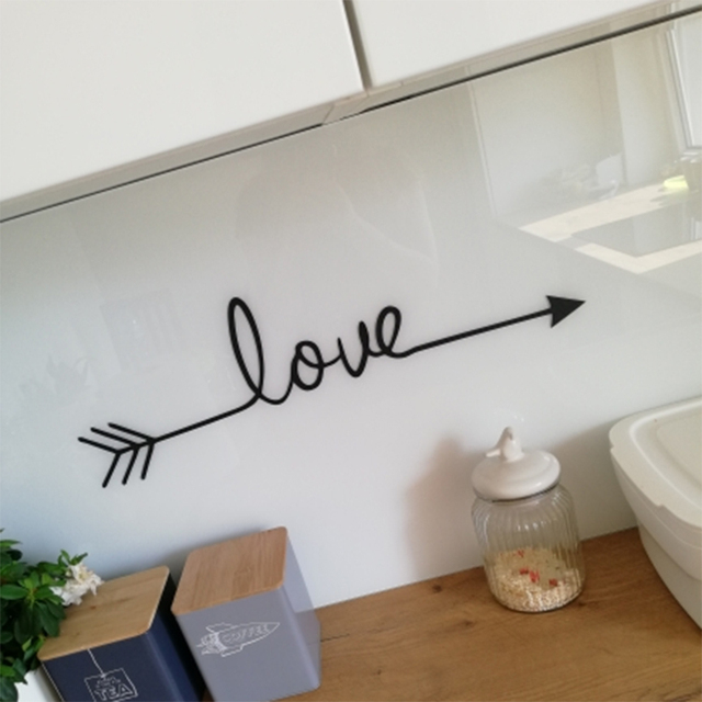 quotes LOVE Art wall sticker DIY Nordic style love arrow vinyl stickers living room bedroom decoration 2019