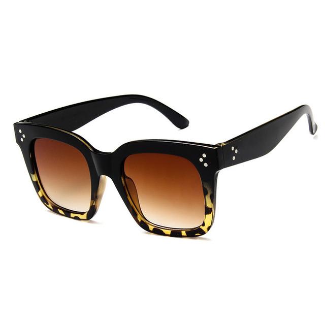 Fashion Design Sunglasses Brand Vintage Women Square Sun glasses Oversized Gafas Shades Big Frame Eyewear Female Oculos de sol