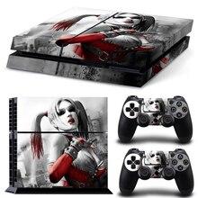 DC CALIENTE Harley Quinn Calcomanía Pegatinas de La Piel Cubierta de La Piel para Playstation 4 PS4 Consola + 2 Unids Controlador Skins Protector