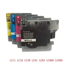 1Set LC11 LC16 LC38 LC61 LC65 LC67 LC980 LC1100 Ink Cartridge for Brother DCP-385C DCP-390CN DCP-395CN DCP-535CN DCP-585CW