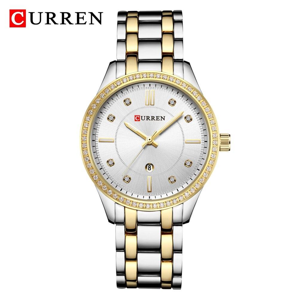 CURREN Women Watches Luxury Brand High Quality Quartz Watch Classic Gold Silver Ladies Wristwatch Female Clock Relogio Feminino