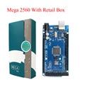 Mega 2560 R3 2012 Version Offcial con ATMega 2560 Chip ATMega16U2 para Arduino Controlador Integrado con Original Caja Al Por Menor