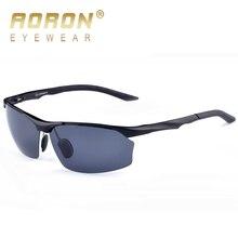 2017 AORON Men Polarized Sunglasses Aluminum Magnesium Eyewear HD Driving Goggles Male Lucury LOGO Designer UV400 Sun Glasses