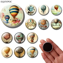 Cartoon hot air balloon fridge magnet Retro 30MM refrigerator magnets Stickers Vintage travel souvenir message board Home decor недорого