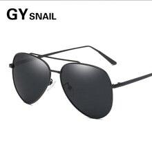 ФОТО gysnail hot ray classic polarized sunglasses men/women reflective coating lens eyewear accessories aviator sun glasses for men's