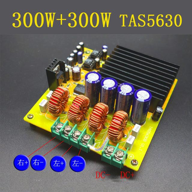 300 W + 300 W TAS5630 Dual Channel-Classe D Amplificador de Áudio Digital Board AD827 HIFI DC20v-DC50V 24 v carro
