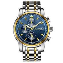 Relogio Masculino Fashion Men Watch Automatic Mechanical Sapphire crystal Wristwatch Stainless Steel 30m waterproof Male Clock