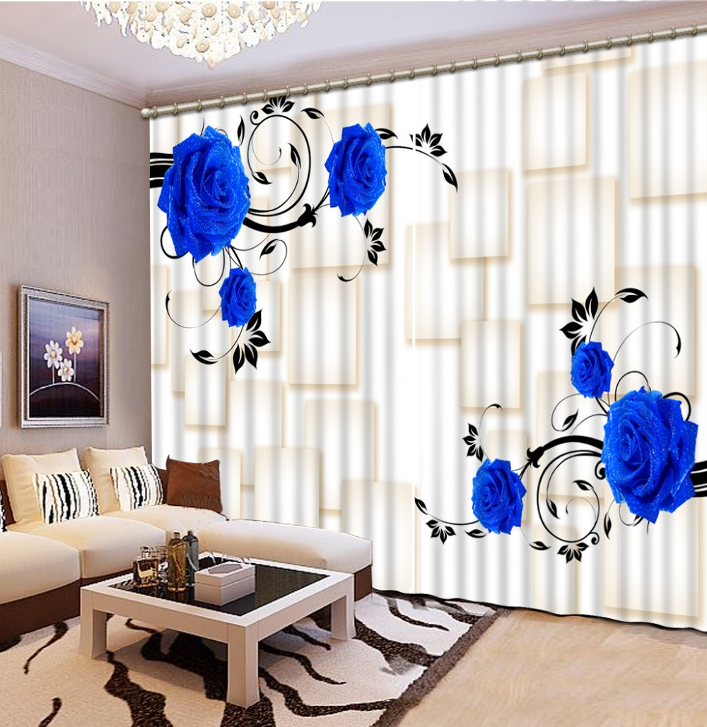 3d curtains Curtains for living room Purple rose Curtain window room Factory diret sale Home Decoration