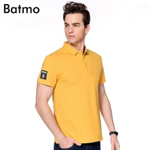 Batmo 2017 new arrival summer high quality Bamboo Fiber Breathable casual polo shirt men,size M.L.XL.XXL.XXXL 6 color