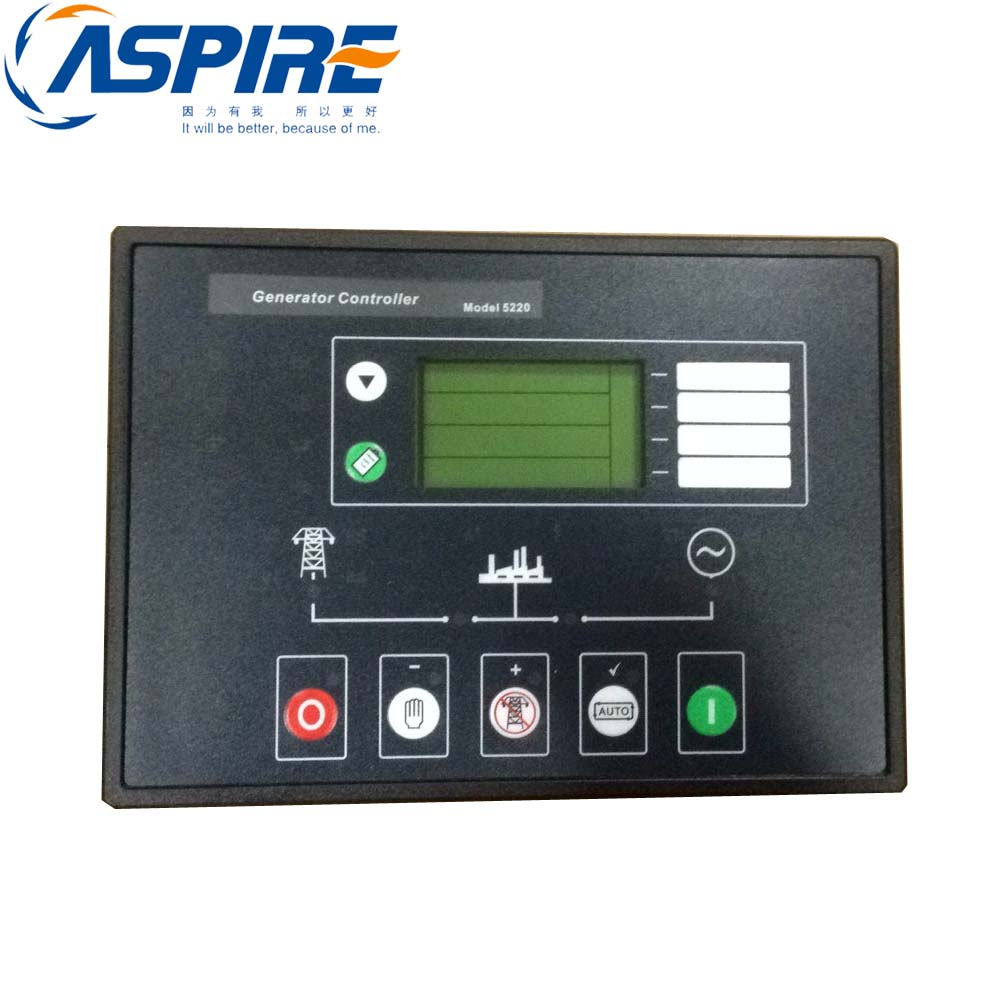 Generator Set Controller 5220 Auto Transfer switch for Genset with Free Shipping dse702 as genset controller electronic auto start controller module generator