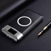 Беспроводное зарядное устройство Qi, портативное Внешнее зарядное устройство с двумя USB портами для зарядки телефонов iPhone 8, Samsung S8, Note 8, 9