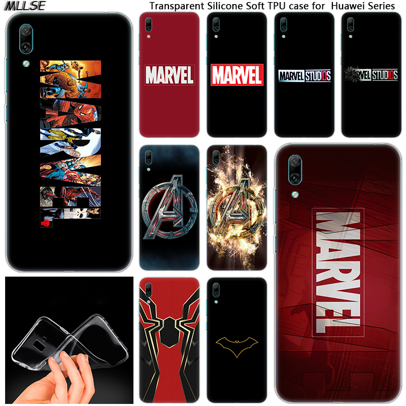 <font><b>Marvel</b></font> Comics Simple Logo Soft Silicone <font><b>Case</b></font> for <font><b>Huawei</b></font> Mate 10 20 Lite Pro Enjoy 8 9E Y6 Pro Y5 2017 <font><b>Y7</b></font> Pro Y9 <font><b>2019</b></font> 2018 Cover image