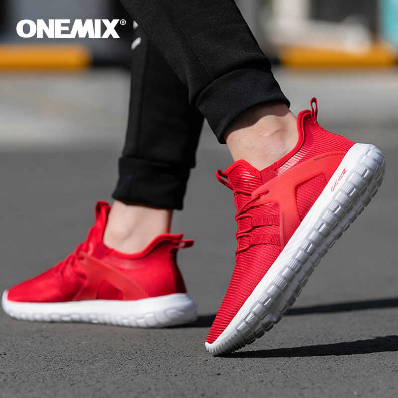 ONEMIX Hot selling men running shoes men sneakers super light high elastic soft outsole for outdoor jogging walking shoes 39-46