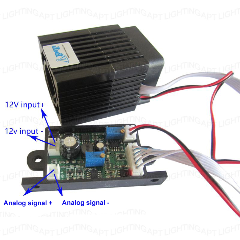 Analog signal Focusable Quality Super stable 300mW 532nm green laser module Stage Light RGB Laser Diode