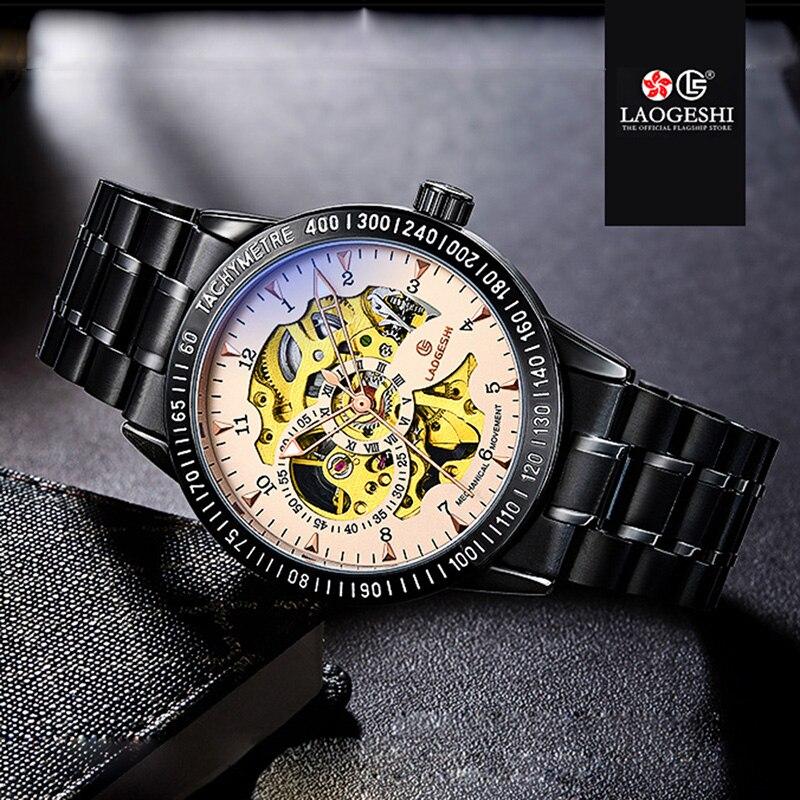 Здесь продается  Luxury Brand Luminous Clock Men Automatic Mechanical Watch Skeleton Military Relogio Male Montre Men Watches Full Black Relojes  Часы