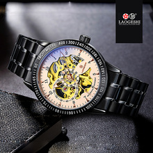 Luxury Brand Luminous Clock Men Automatic Mechanical Watch Skeleton Military Relogio Male Montre Men Watches Full Black Relojes