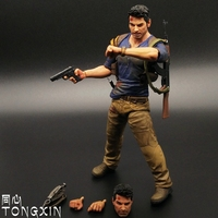 Mysterious sea area Uncharted 4 7 inch Nathan Drake Movable doll model Handmade toy multi accessories NECA T24