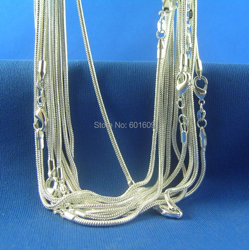 20de2bfeb43d ᗐShuangr nuevo 925 Delgado ronda serpiente Collares de cadena para ...